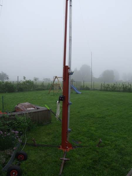The system on a wet and foggy June morning