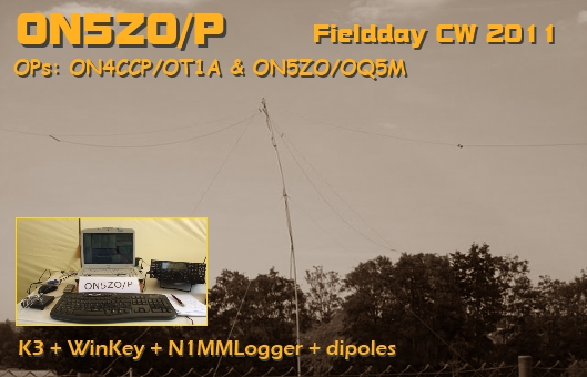 Something put together in a short time: the FD CW 2011 QSL card for ON5ZO/P