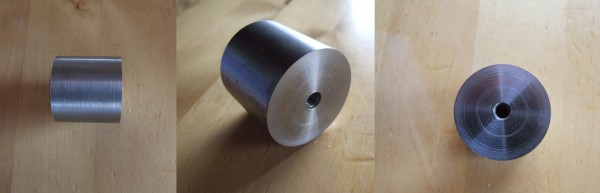 Make surface flat and clean, drill through, cut inside thread for M6.